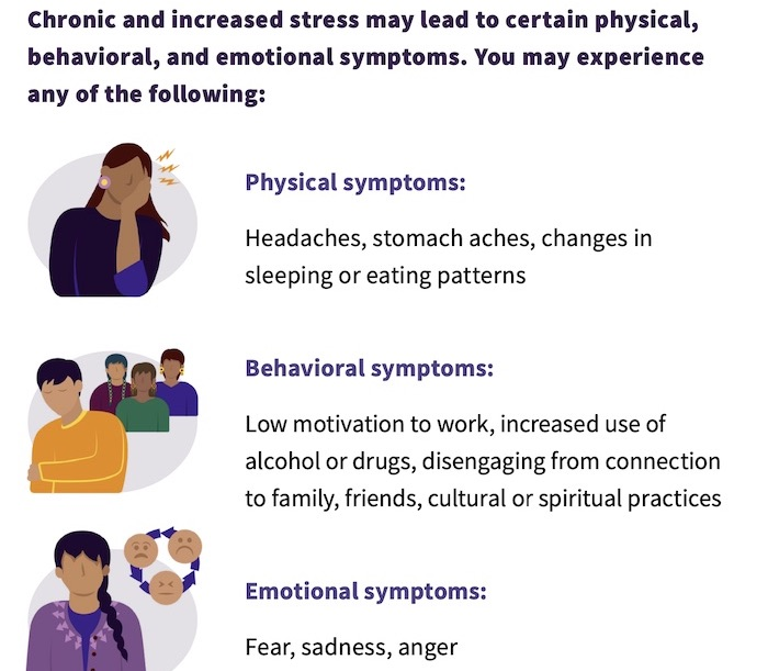 Excerpt from Johns Hopkins Center for American Indian Health's guide to Psychological First Aid for COVID-19 first responders working in Native communities.