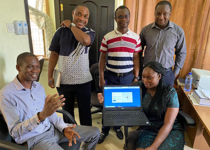 Social workers in Ghana's Ga West Municipality use UNICEF's Primero case management platform to coordinate care for children at risk.