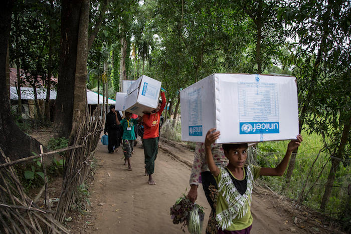 UPS is working with UNICEF to deliver education and health supplies to support Rohingya refugees in Bangladesh.