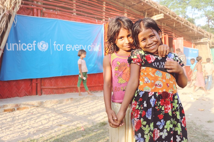 UNICEF is opening Child-Friendly Spaces in Rohingya refugee settlements in Bangladesh where Rohingya children can go to learn, play and recover from trauma.