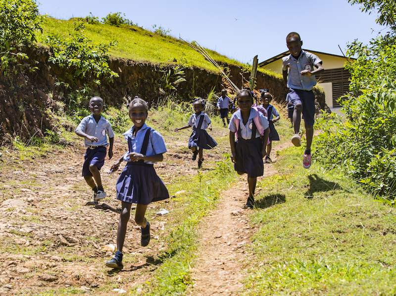 Some kids travel up to two hours each way to attend The Beudoret National School in Plaisance, Haiti, built with help from UNICEF.