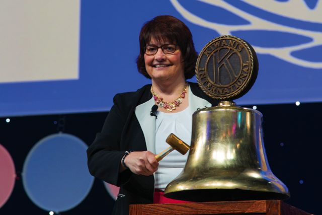 Sue Petrisin has made history as Kiwanis' first woman president