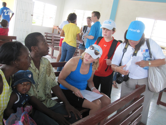 UNICEF USA New England Regional Board member Susan Littlefield and her 12-year-old son traveled to Belize on a field visit in 2013.