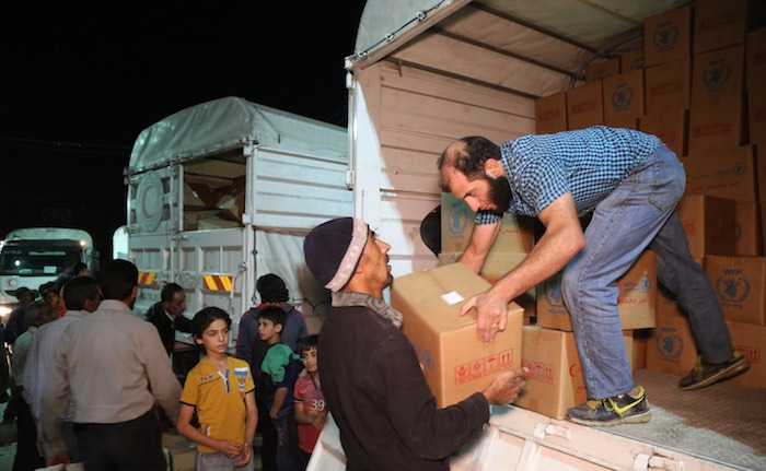 Under the so-called Four Town Agreement, convoys delivered supplies to people in Madaya and Zabadani in Rural Damascus and Foah and Kefraya in Idlib governorate.