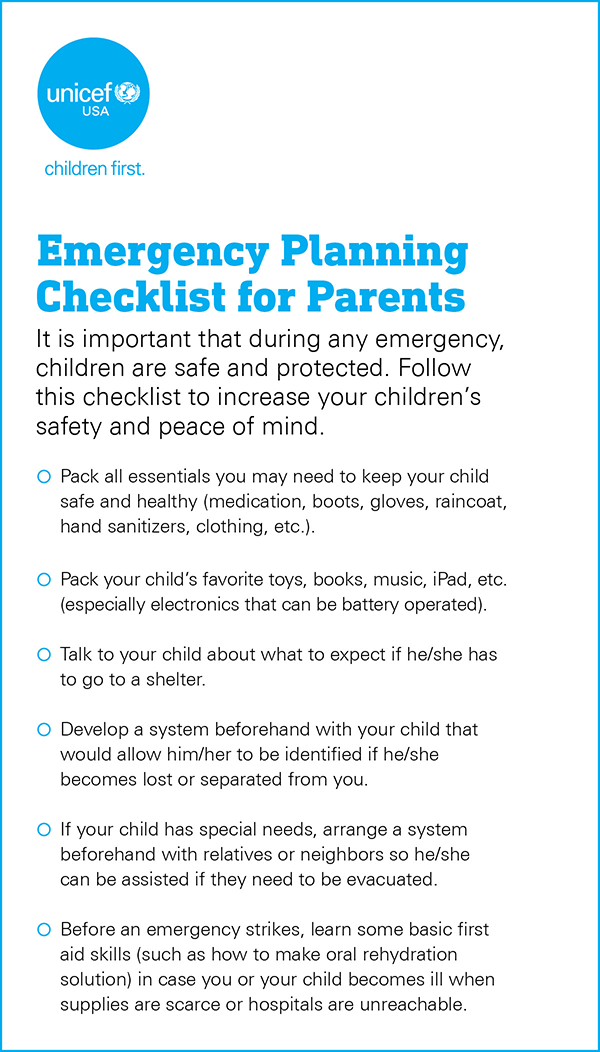 unicef, emergency preparedness, unicef usa, hurricanes, hurricane florence, emergencies