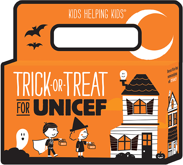 trick or treat for unicef is a box meant for collecting donations