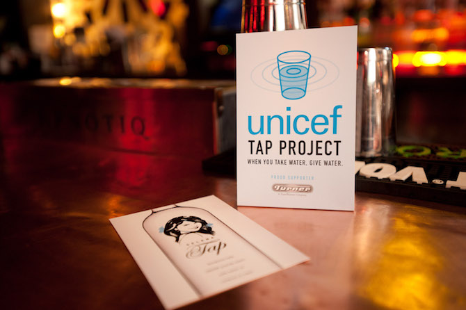 The UNICEF Tap Project got its start as an initiative that asked restaurant diners to donate $1 for tap water to support UNICEF water, sanitation and hygiene (WASH) programs.