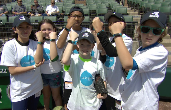 On May 6, 2018, UNICEF Kid Power teamed up with the Chicago White Sox for some pre-game fun for UKP month.