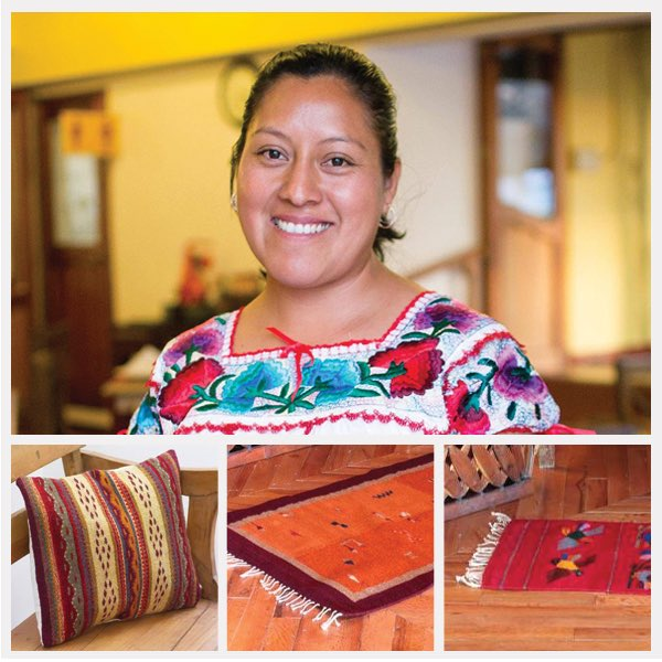 """I'm from Oaxaca where I grew up with my parents, who have  been weaving Zapotec rugs for as long as I can remember.   When I was 18, I created my first rug sample, but I didn't start  producing them myself until I had a family of my own. Thank  you for t"