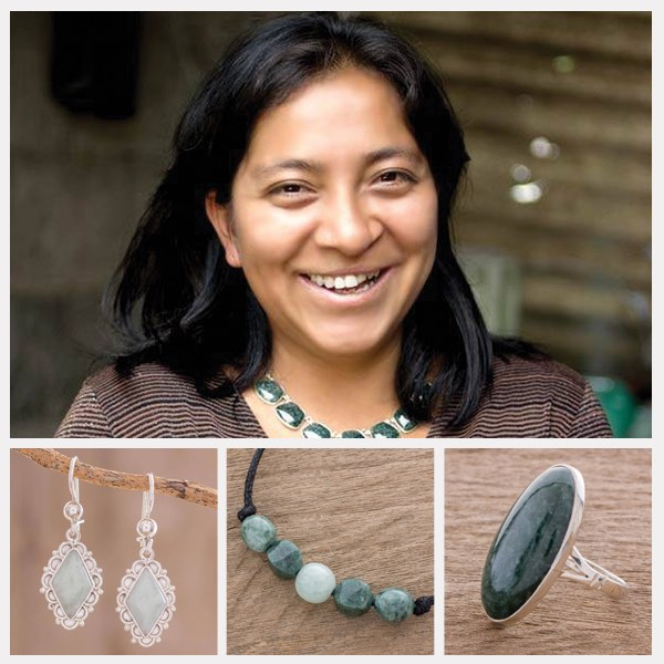 """Jade is a sacred stone for us Maya people. Rescuing the value of our traditions is important. That's why I'm teaching my sons to work in silver. Thanks to Novica, I am honored to see people beyond Guatemala wear my designs—each bears my best wishes."""