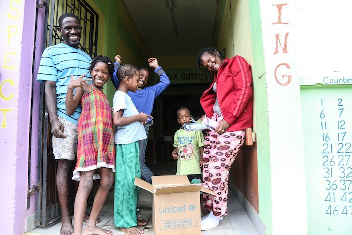 After Hurricane Matthew hit Dominica in 2017, UNICEF delivered hygiene kits to families living in shelters in Roseau, the capital, in less than 24 hours.