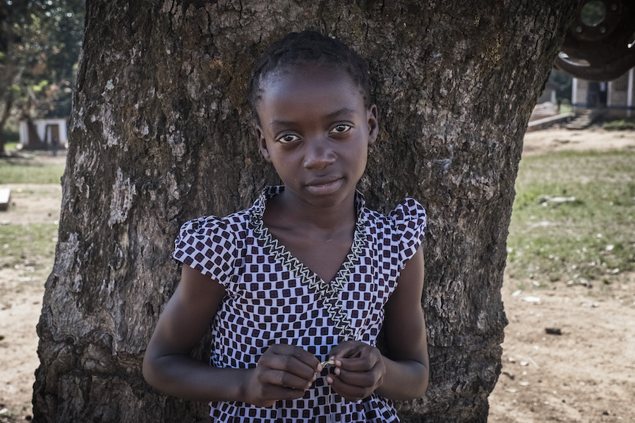 """Now I am glad that I can resume going to school in a peaceful environment,"" says Myriam Ergani, fled violence in her home village in Central African Republic, ""I love grammar and history classes"""
