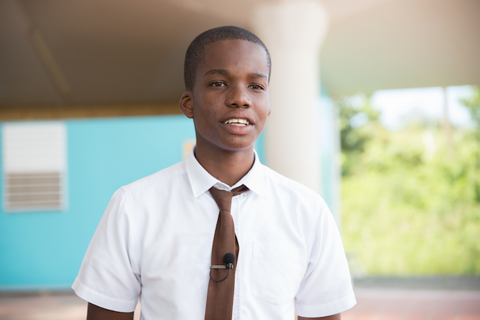 While hurricane season still terrifies him, 15-year-old Ahijah from Dominica says he was reassured by the disaster training offered at his school, North East Comprehensive, as part of a UNICEF-supported initiative.