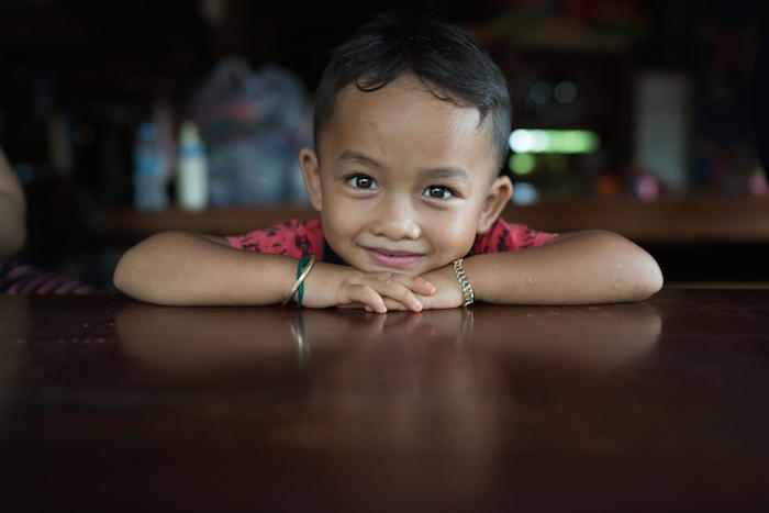 4-year-old Nom Som of Okapel village, Ratanakiri, northeast Cambodia, receives health and nutrition support from UNICEF.