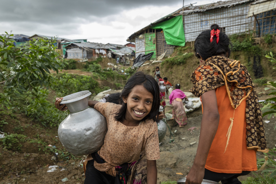 UNICEF and its partners are not only working to make life more bearable for the Rohingya refugees. They are also taking measures to help Bangladeshis who live in areas adjoining the refugee camps