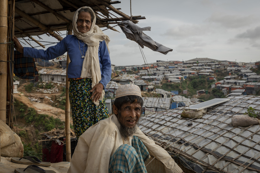 In the current monsoon season, Rohingya shelters like Dulu's – perched on crumbling soil – are highly vulnerable to landslide.