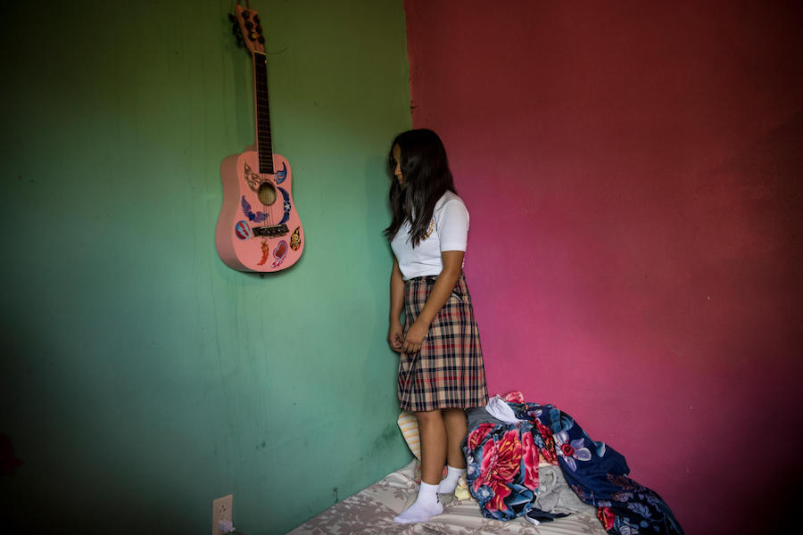 Elsa (name changed), 16, was sexually harassed by her math teacher in Villaneuva, Honduras.