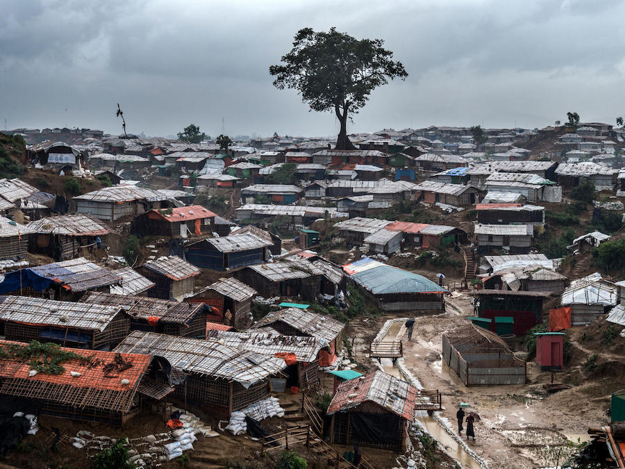 Deforestation has left Rohingya refugee camps — like Kutupalong in Cox's Bazar, Bangladesh — vulnerable to erosion and landslides.