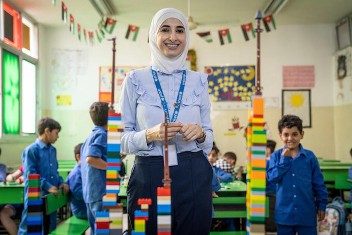 """Learning through play is very important because it's child-centered,"" says UNICEF Jordan Early Childhood Development Specialist Sajeda Atari."