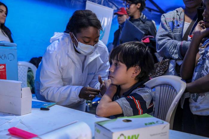 UNICEF, Venezuela, Venezuelan migrants, Ecuador, Colombia, vaccination, humanitarian aid