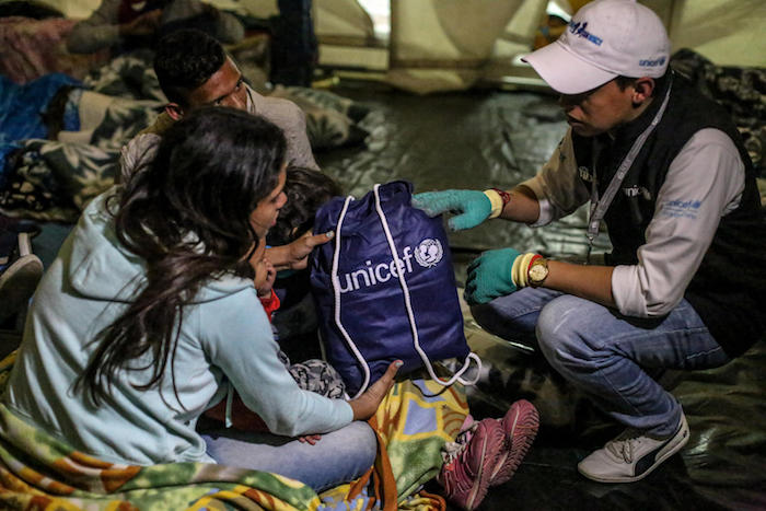 UNICEF, Venezuela, Venezuelan migrants, Ecuador, Colombia, humanitarian aid