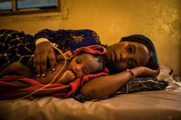 Zara, 16, and her newborn daughter in Mao, the capital of Chad's Kanem Region, in June 2018.