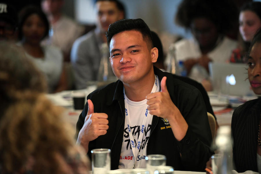 UNICEF Youth Advocate Muhd Saiful Ikhwan bin Musa from Malaysia at the UNICEF #ENDviolence drafting of the Youth Manifesto in Sandton South Africa on 1 December 2018.