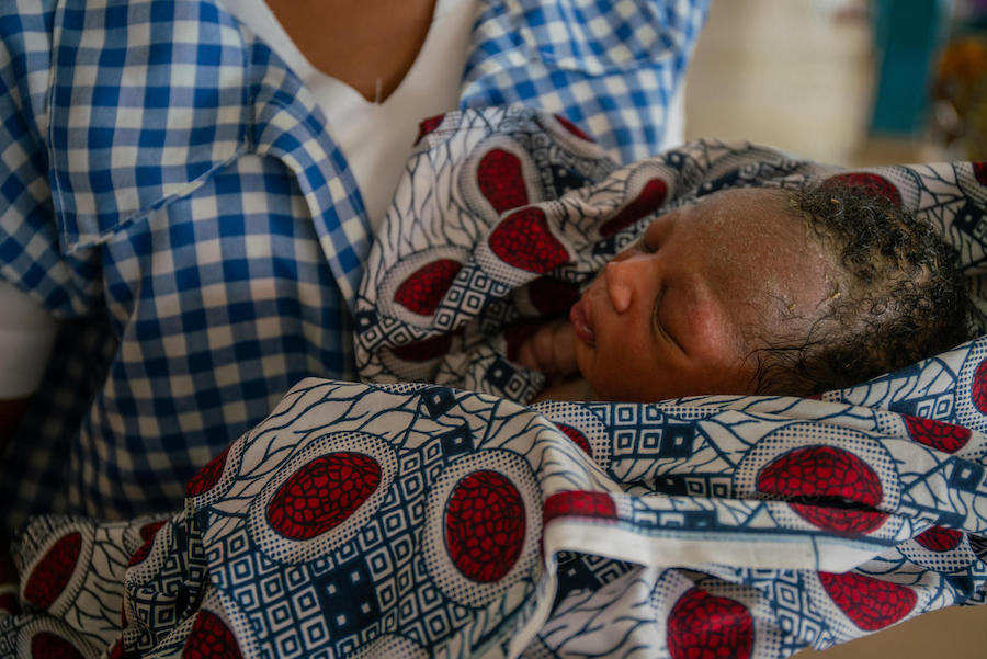 Amilia Mathew, 28, delivered this baby in nana As'mau clinic, Yola, Nigeria in October 2018.