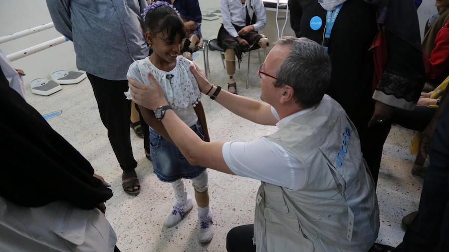 UNICEF, Yemen, humanitarian crisis, protheses center, Aden