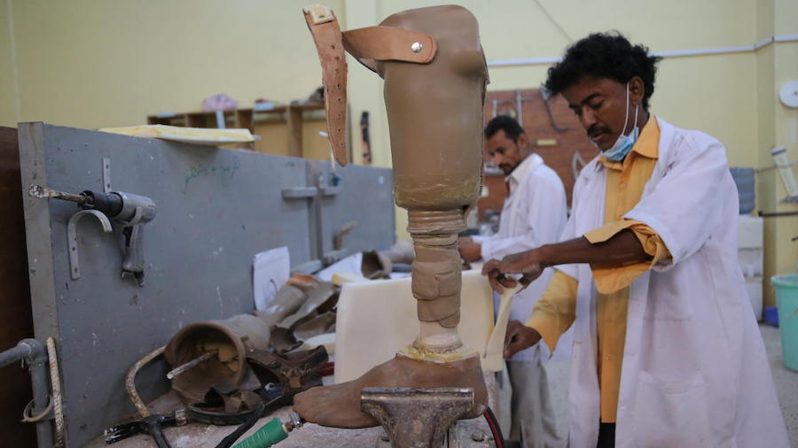 UNICEF, Yemen, Prostheses and Physiotherapy Clinic, Aden
