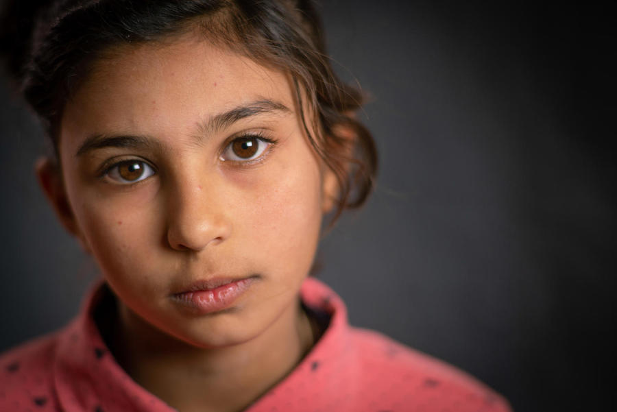Growing up in Za'atari refugee camp in Jordan, Hala, 11, dreams of becoming a surgeon and returning to Syria one day.