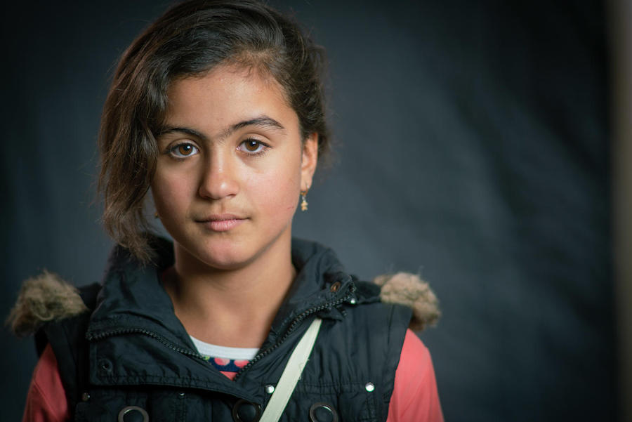 Rudaina, 11, still has her house keys from Syria in Jordan's Za'atari Refugee Camp.