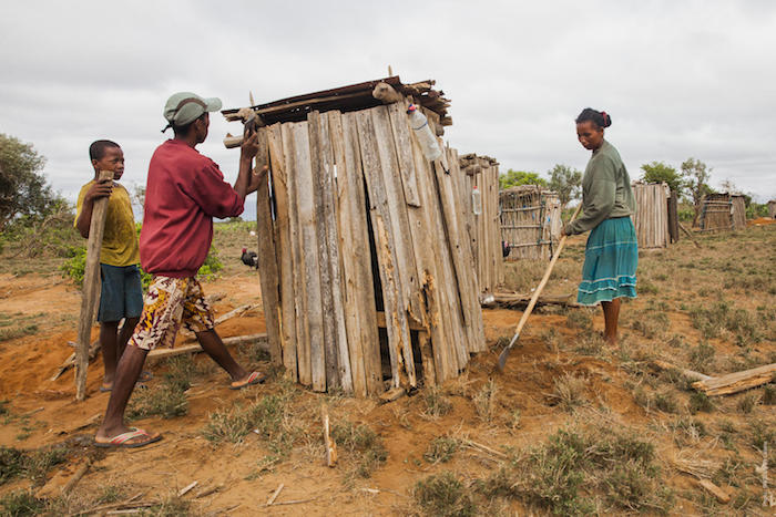 UNICEF and partners build latrines from local communities in rural Madagascar, improving health and sanitation for all.