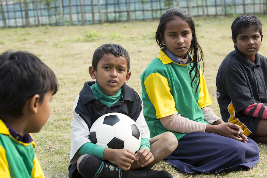 The FutbolNet programme, funded by the FC Barcelona Foundation, offers thousands of Bangladeshi students including Faisal and his friends the chance to play football
