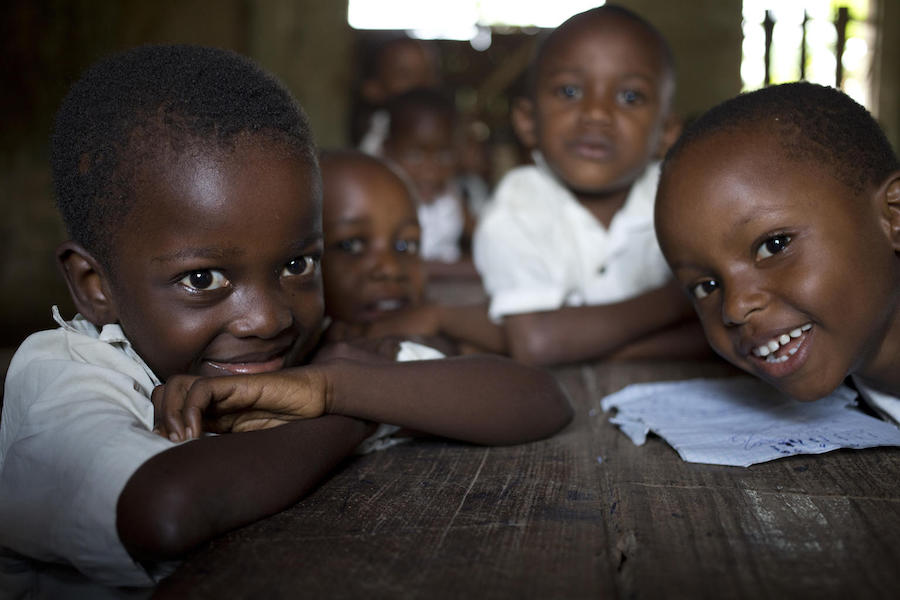 UNICEF scaled up water, sanitation and hygiene programs at schools in the Democratic Republic of Congo in 2018, including this one, École Conventionées Catholique in the Mandeleo suburb on Kisangani, Tshopo province.