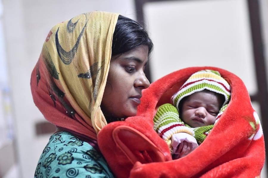 Kavita and her husband Vikas welcome their first child (baby girl 2.8 kg) on new year at Lady Hardinge Medical College, New Delhi. They are both excited to take their bundle of joy home.