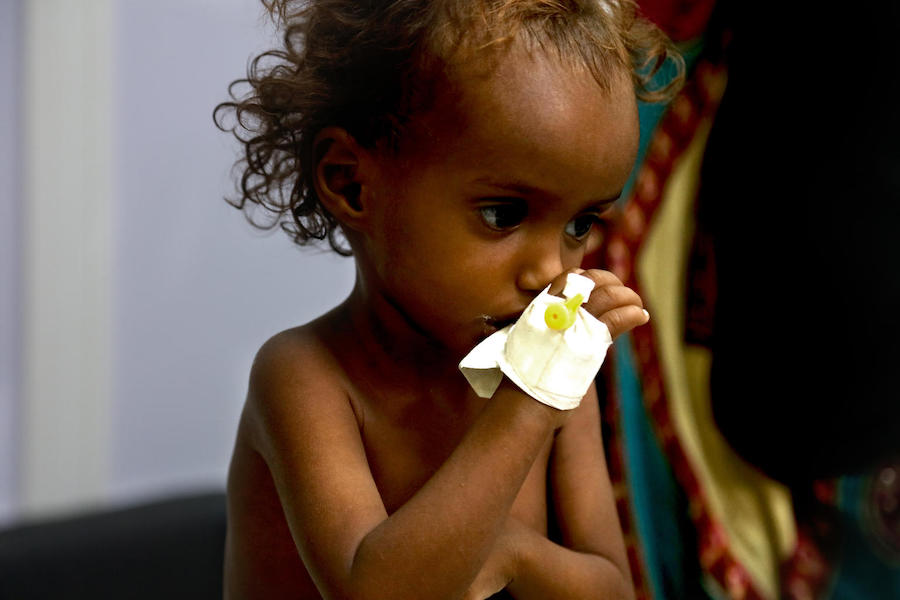 Saba's parents are always struggling to feed her and her seven siblings in wartorn Yemen.