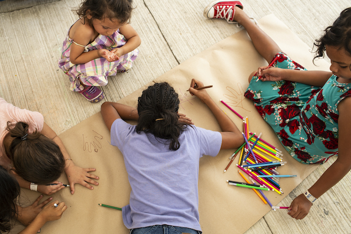 Migrant children take part in a range of activities in the Child-Friendly Spaces that UNICEF helps set up and manage at migrant shelters along the Mexico-U.S. border.