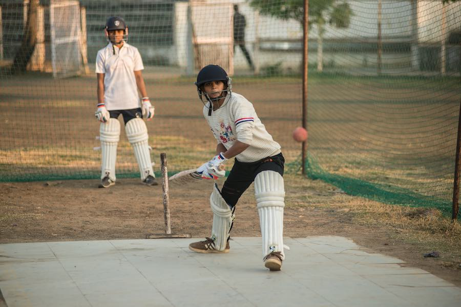 Bharti Sonkar, 18, practices batting early morning with her teammates. The Power of Girls was launched to assemble a girls cricket team not only to emphasize the importance of sports and physical fitness for them, but also to raise awareness about gender