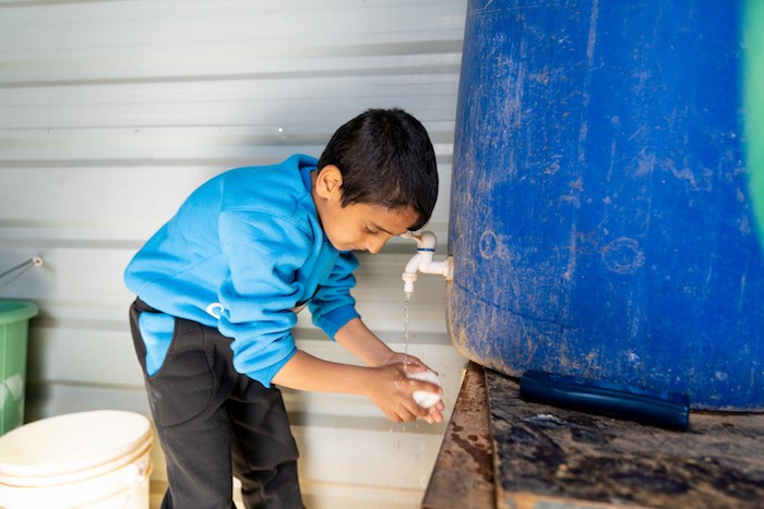 UNICEF and partners have been providing safe water, sanitation and hygiene supplies to 7.3 million people in Syria and the 2.5 million Syrian children who are living as refugees in neighboring countries. Diaa, 10, has lived with his grandmother and other