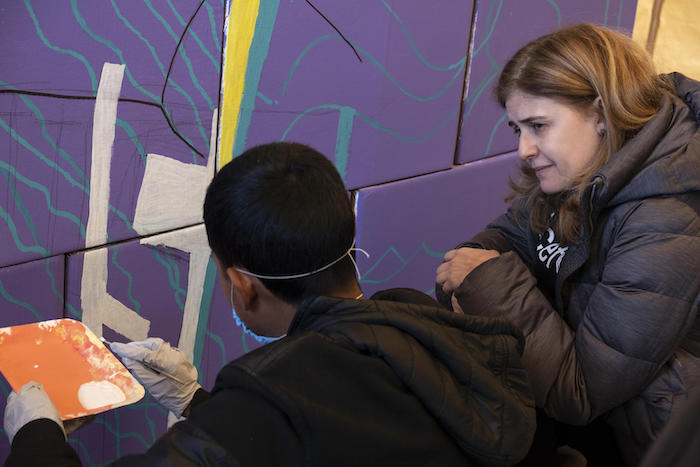 Paloma Escudero, UNICEF Director of Communication, visits migrant teenagers primarily from Central America at a shelter for unaccompanied migrant adolescents in Tijuana, Mexico.