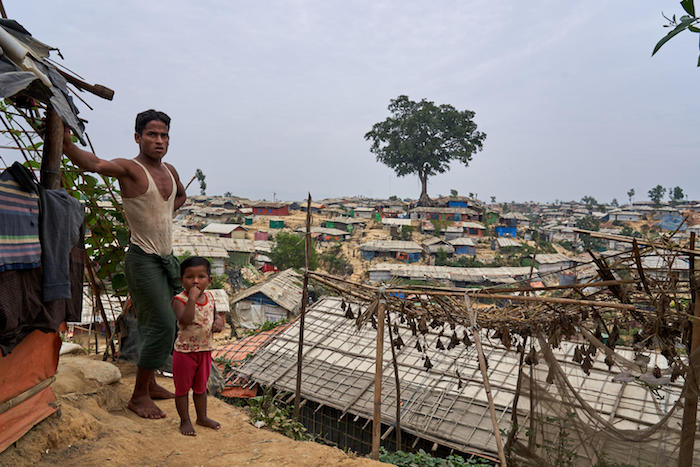 Almost nothing is left of the vegetation that covered the are now occupied by the camps sheltering Rohingya refugees in Cox's Bazar, Bangladesh.