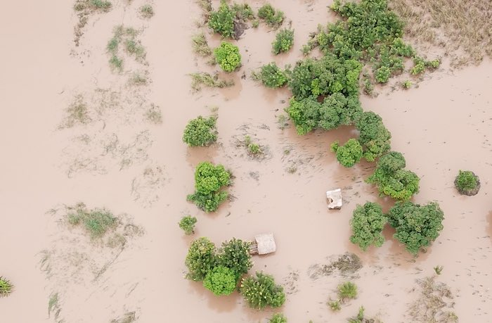 4 March 2019 in Malawi, UNICEF's drone, as a part of the assessment work, was sent 3,8 km to observe the remains of the Malekeza village in Nsanje district. As reported by the displaced people, the village has been completely flooded.