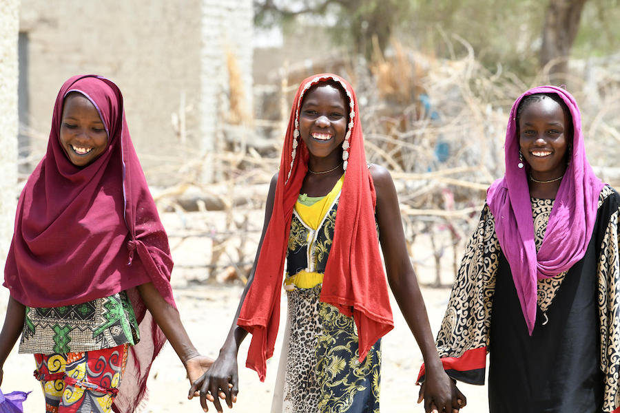 Friends in the village of Bolingo, in the center of Chad, in March 2019.