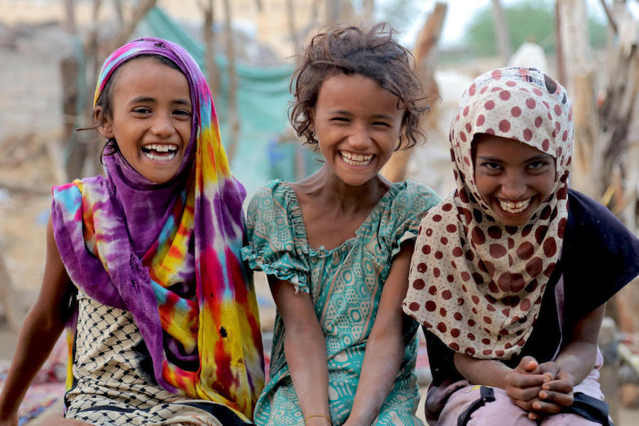 UNICEF and partners are providing lifesaving support and services for children like these in Hudaydah, Yemen.