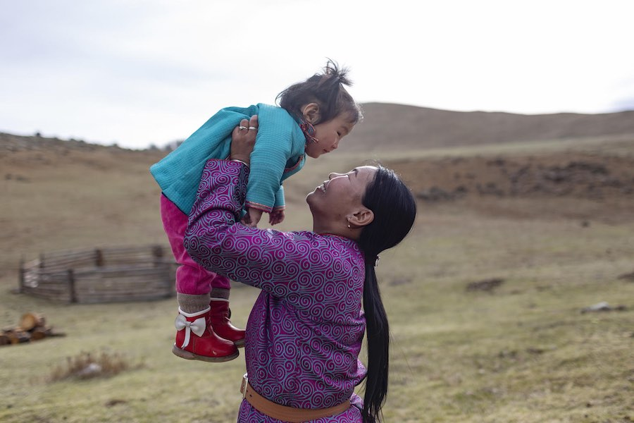 In Mongolia, newborn mortality rates are going down, thanks to UNICEF-supported health care for moms and babies like one-year-old Delgermurun Tsolomon and her mom, Sugarmaa Batjargal.