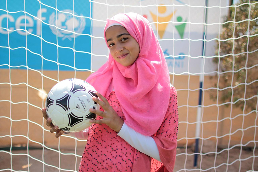 """""""I used to feel nervous and shy to play, but now I feel confident as my friends and my coach encouraged me."""""""