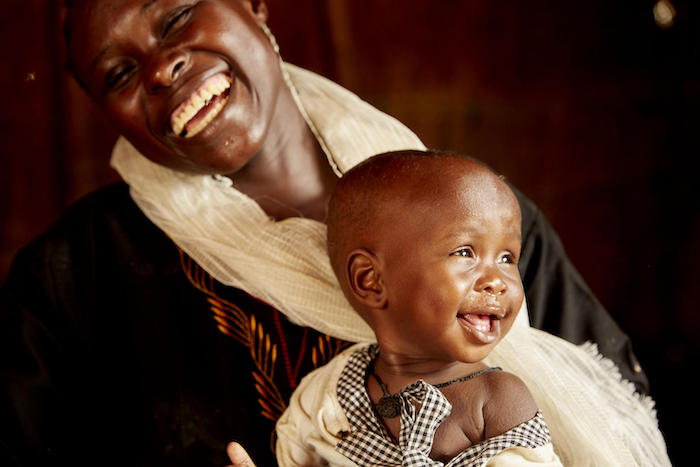 Nine-month-old Amira's mother, Einas Ahmed Harun Mohamed Sajid, is happy now that her baby is thriving after being treated for severe acute malnutrition in Aweil, South Sudan.