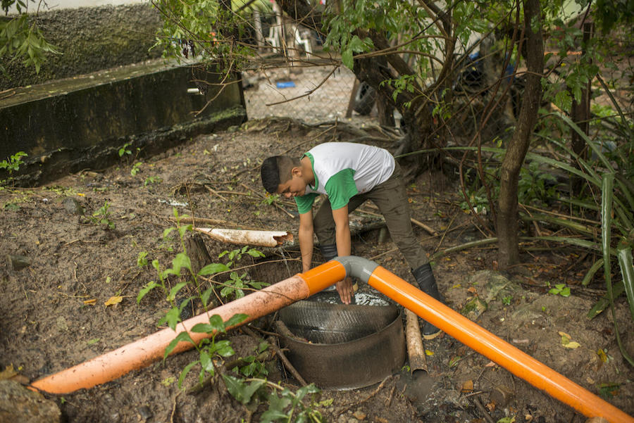 In Ipala, Guatemala, 17-year-old Guillermo used recyclable materials to build gray water filters to protect the health of his community.