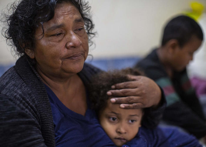 Evacuated people remain in a shelter in Bilwi, Puerto Cabezas, Nicaragua, on November 16, 2020 as Hurricane Iota -- upgraded to Category 5 -- moves over the Caribbean towards the Nicaragua-Honduras border.
